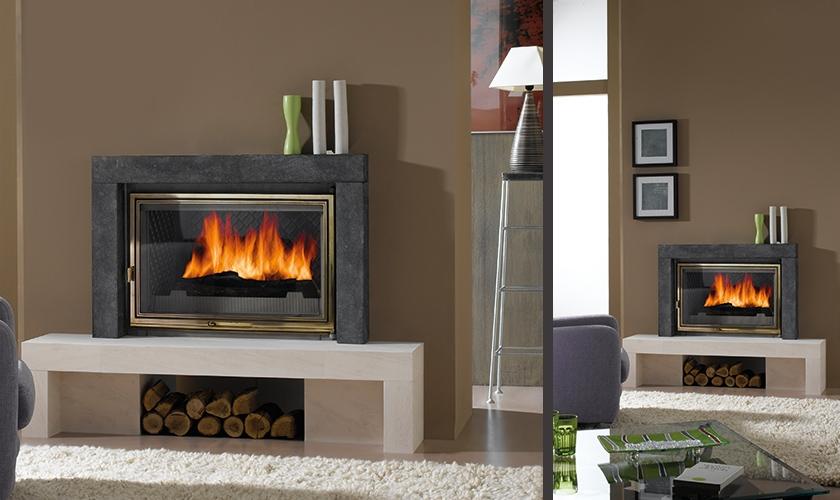 chemin e sienne en pierre blanche ramag e et pierre bleue turbo fonte. Black Bedroom Furniture Sets. Home Design Ideas