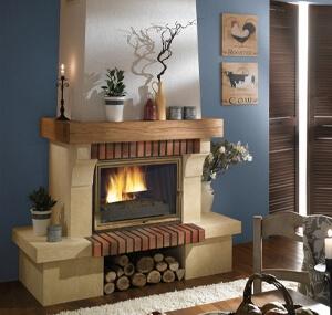 cheminée rustique bayac
