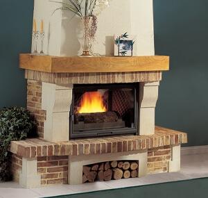 cheminée rustique myrtille